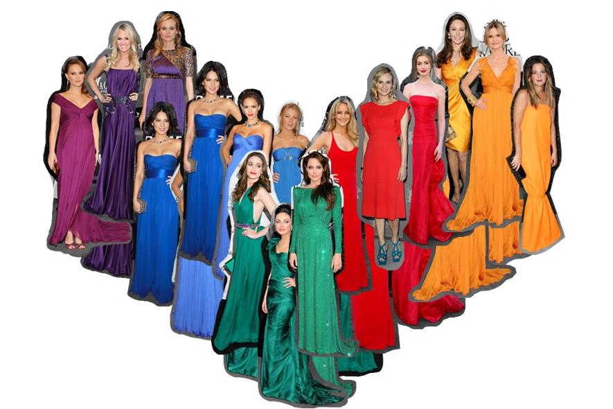 Jewels Tone star con vestiti colorati