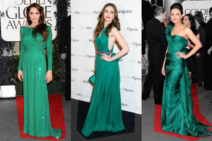 Star con abiti verdi sul red carpet