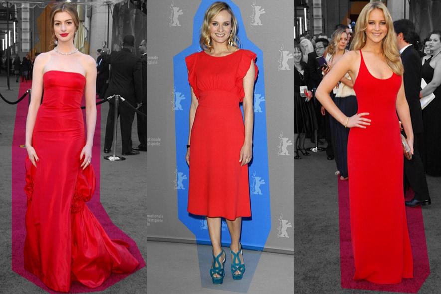 Star in abiti rossi sul red carpet