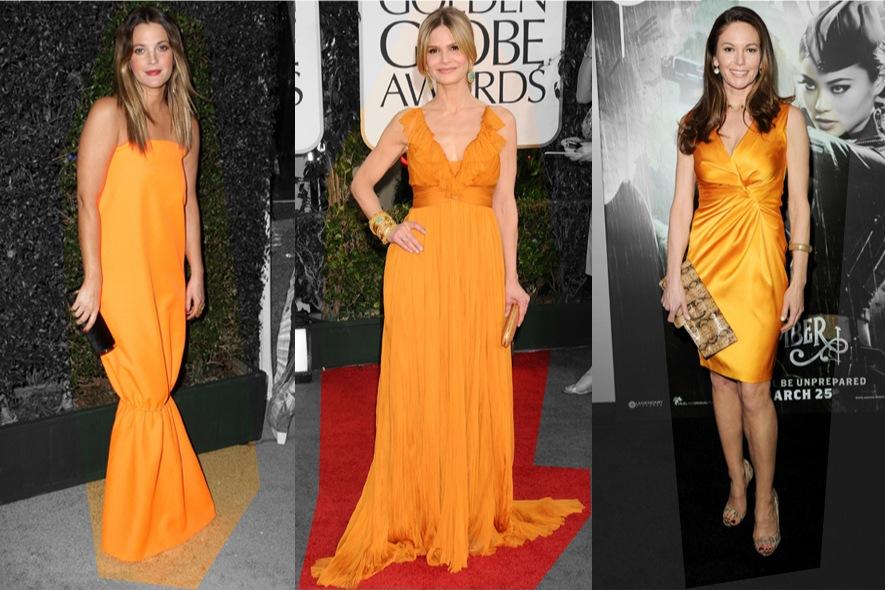 star in abiti arancioni sul red carpet