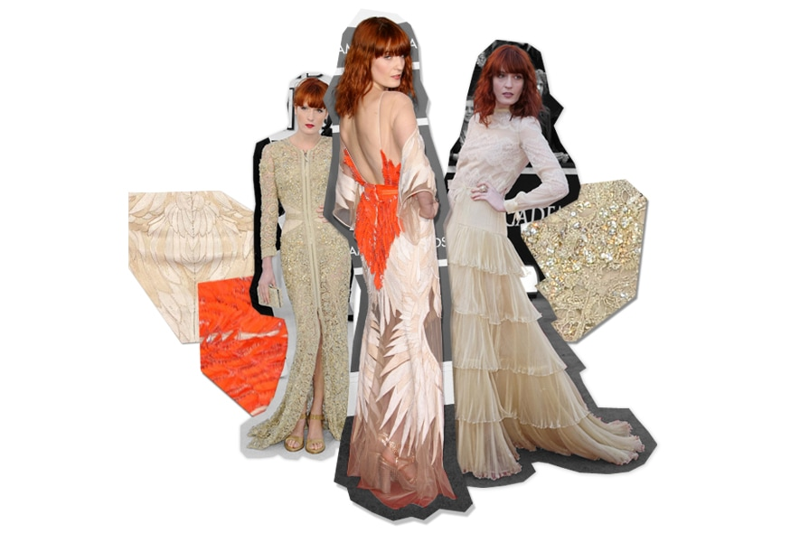 Florence Welch e i suopi long dress