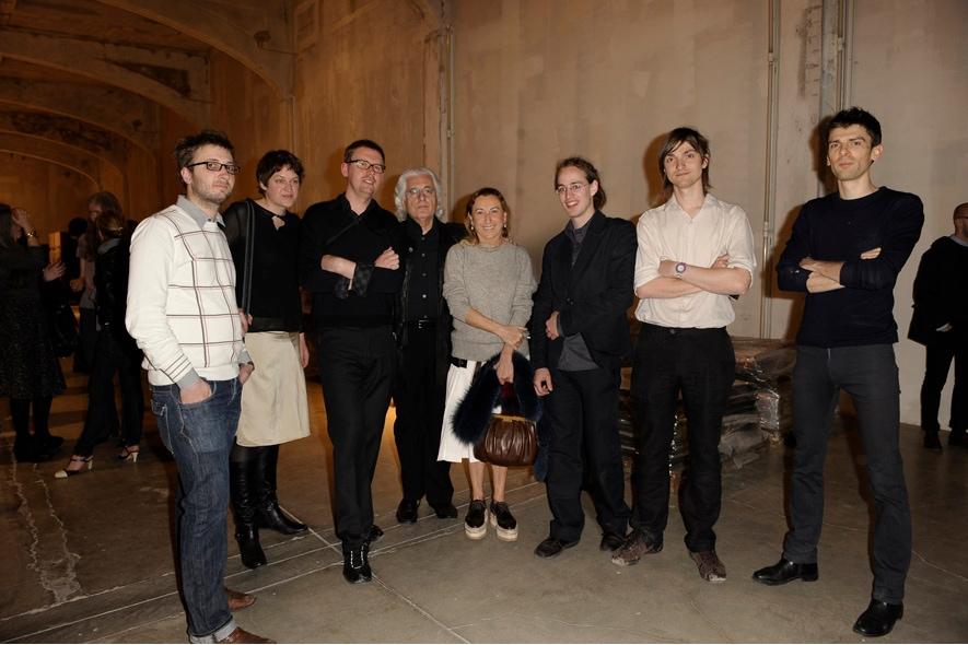 I Rotor insieme a Miuccia Prada e Germano Celant