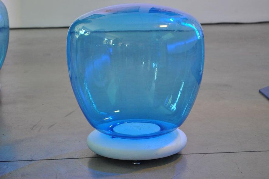 Seduta gonfiabile azzurra
