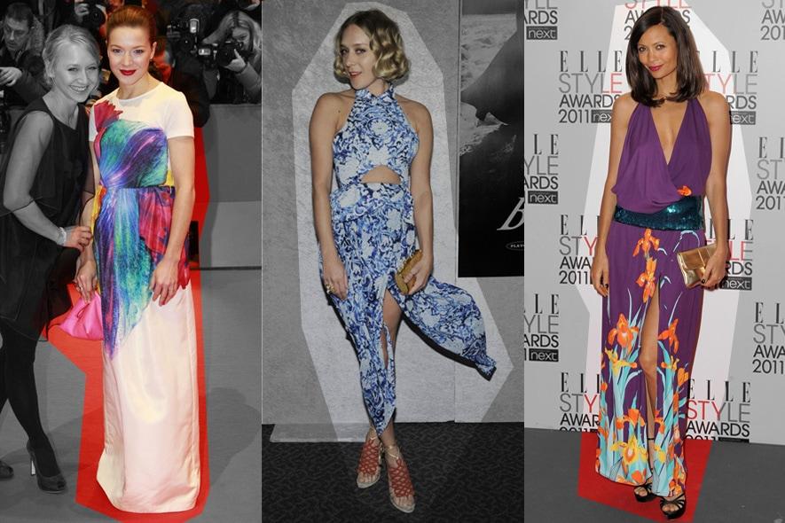 Star con abiti floreali: Hannah Herzsprung, Chloe Sevigny e Thandie Newton