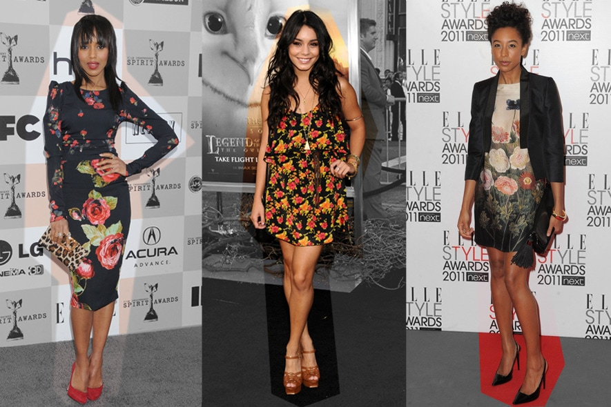 Star in abiti floreali: Kerry Washington, Vanessa Hudgens e Corinne Bailey Rae