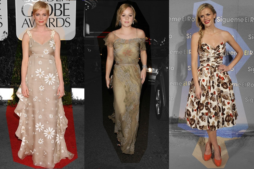 Star in abiti floreali: Michelle Williams, Abbie Cornish e Brooklyn Decker