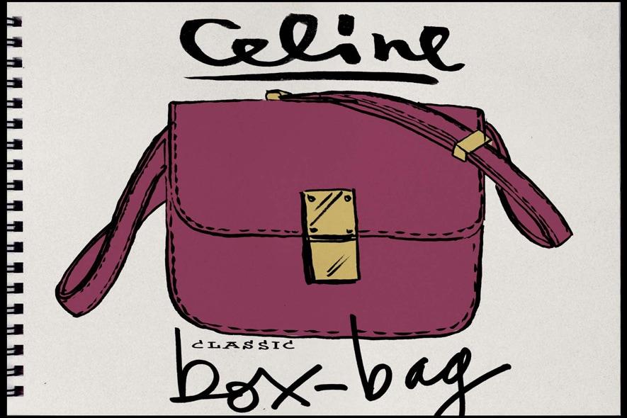 Borsa Celine viola