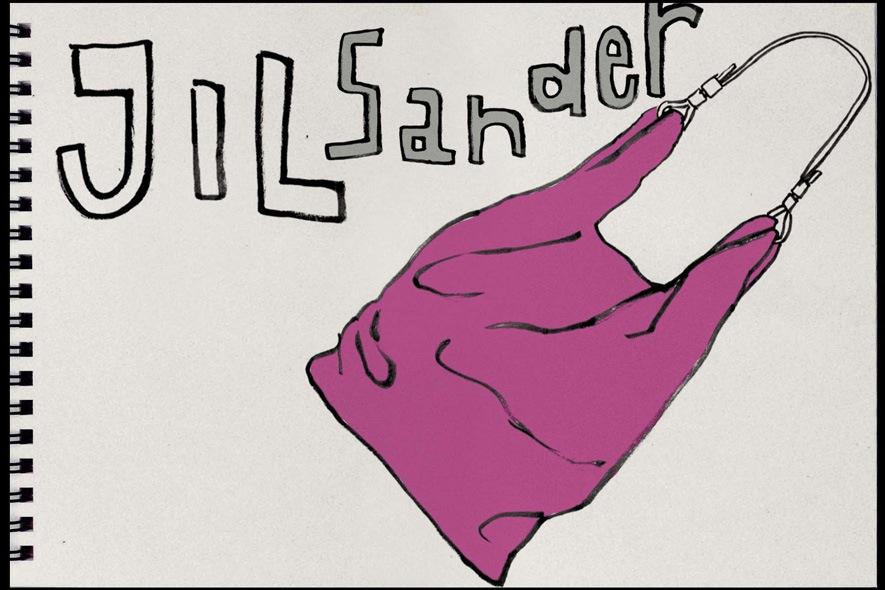 Borsa in pelle di Jil Sander