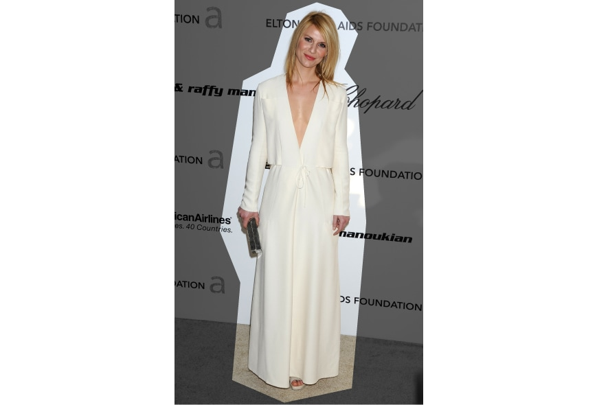 Claire Danes con un abito Calvin Klein
