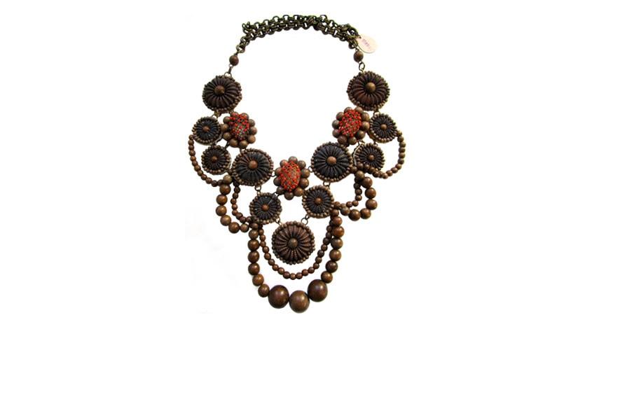 Sveva Collection collana legno