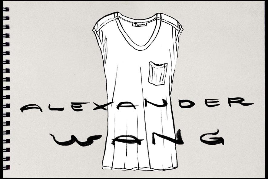T-shirt bianca T by Alexaner Wang