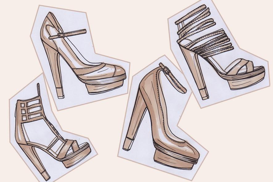 Bozzetti scarpe Elena Cardinali