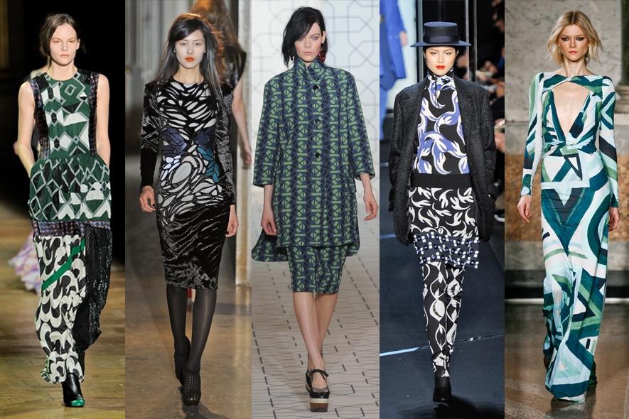 grafismi retrò moda A/I 2011-12