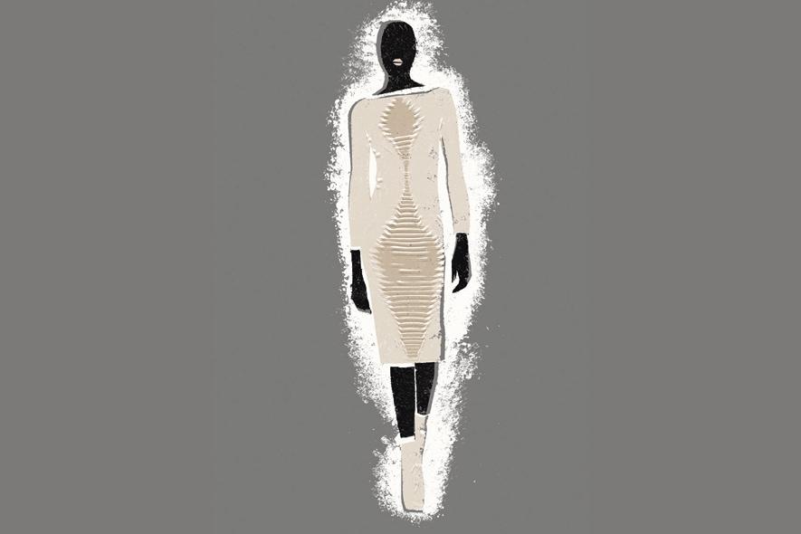 Georgia Hardinge vestito avorio