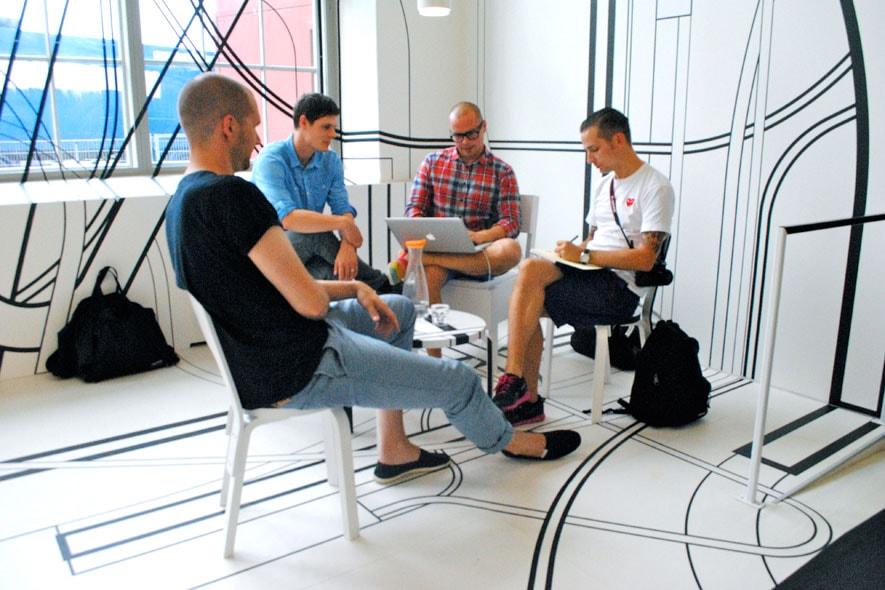 I designers di Werklig a lavoro