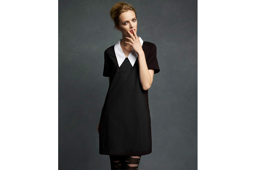 Karl Lagerfeld for Impulse only at Macys Ponte Blk Dress 1091