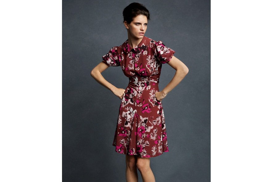 Karl Lagerfeld for Impulse only at Macys Textured Floral Dress 1091