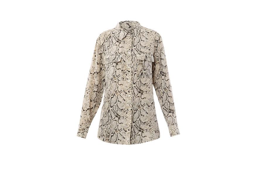 06 Silk signature python blouse   Equipment AW11