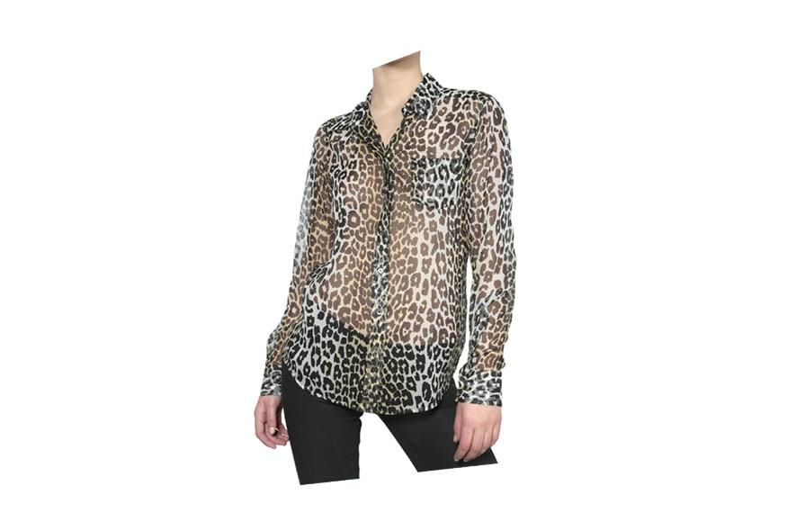07 Leopard chiffon blouse equipment