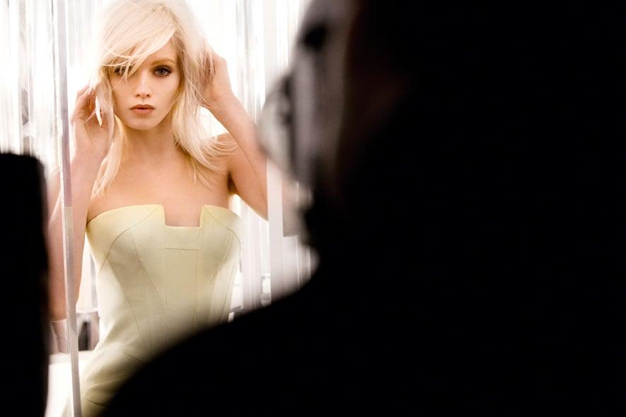 Yellow Diamond Versace backstage 01
