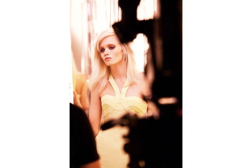 Yellow Diamond Versace backstage 04