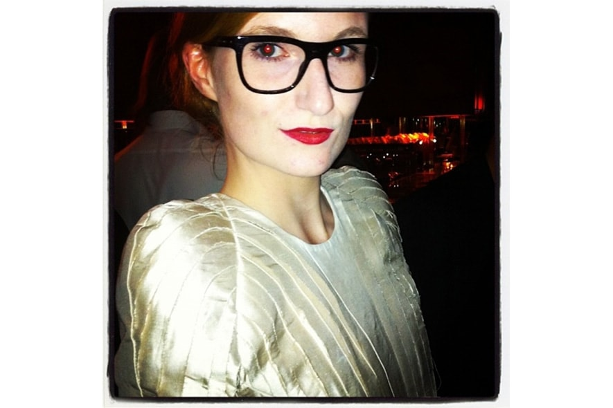 Alexandra of Muse loves her dolcegabbana glasses because of their multicolored frames s itgdetail1220