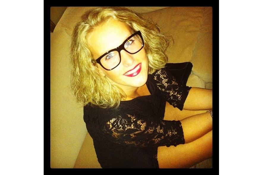 Beatrice loves the silhouette of her dolcegabbana glasses s itgdetail1220