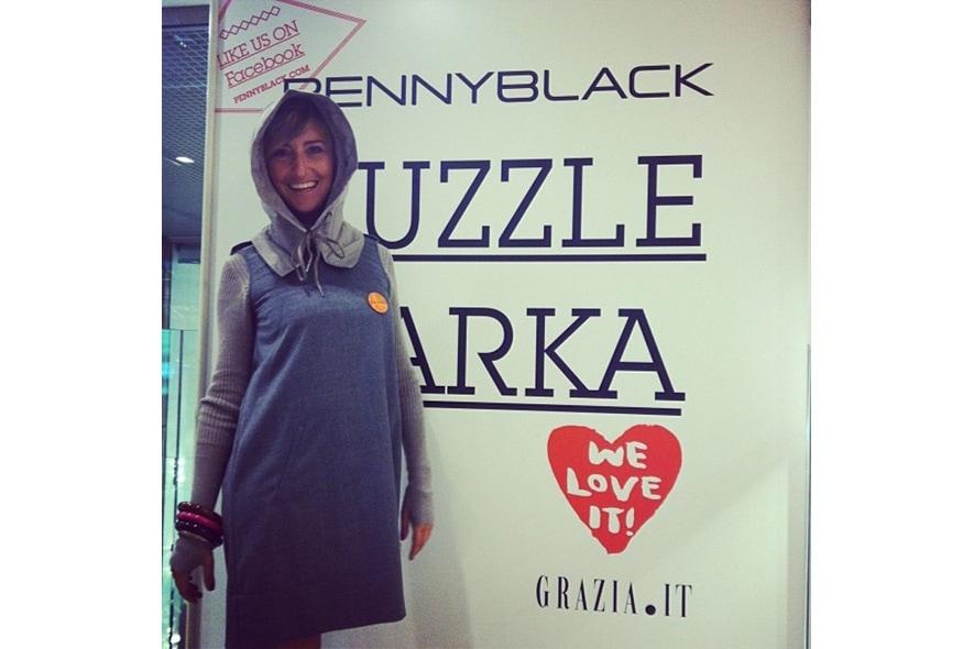 Elena dice che il Puzzle Parka e un maxi cappuccio s itgdetail1220
