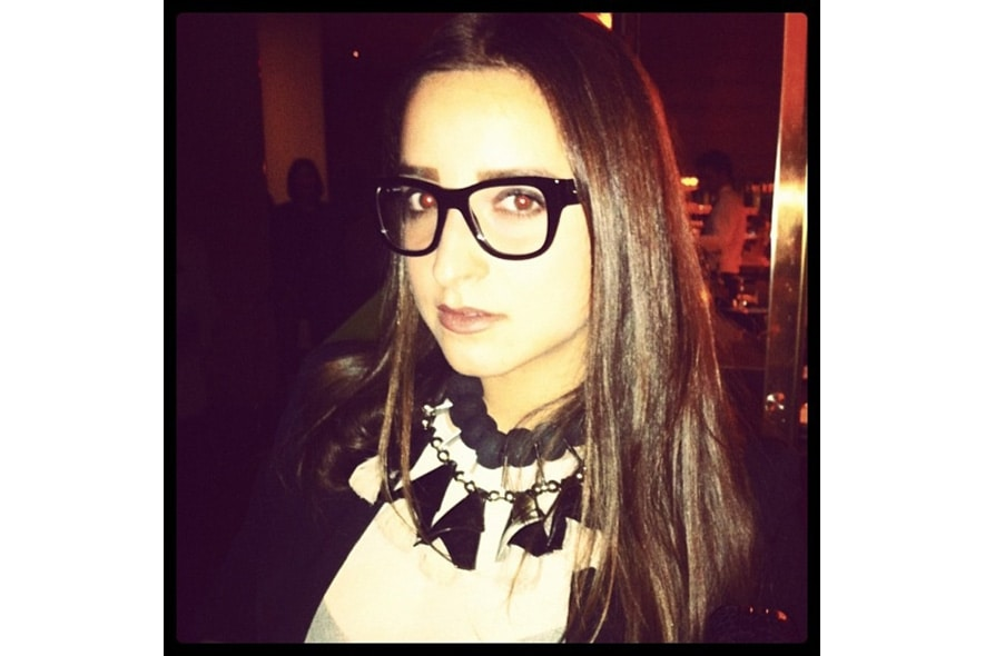 Greta Arienti feels like a super sexy high school teacher in her dolcegabbana glasses. s itgdetail1220