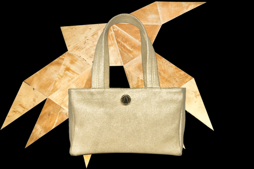 Simone Rainer shopping bag oro