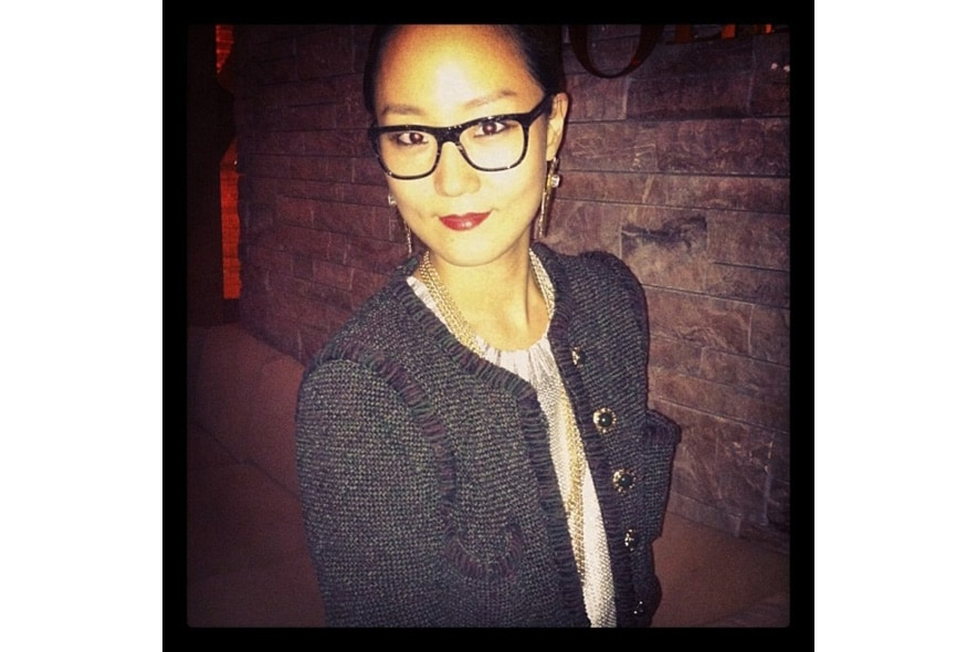 Sun Young thinks that her dolcegabbana glasses are feminine s itgdetail1220
