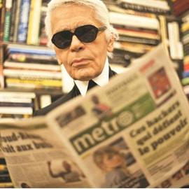 Karl Lagerfeld: guest editor di Metro per un giorno!
