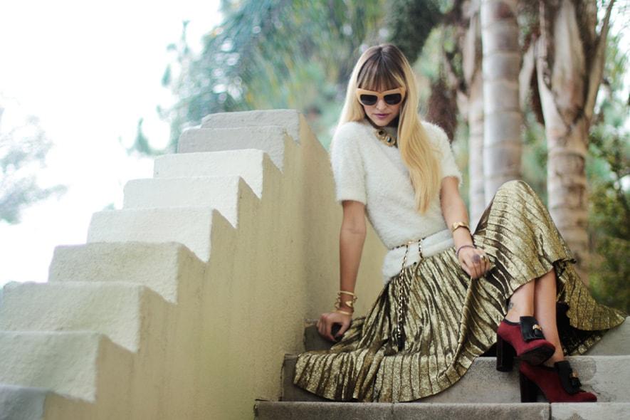 Trend: abiti e accessori oro