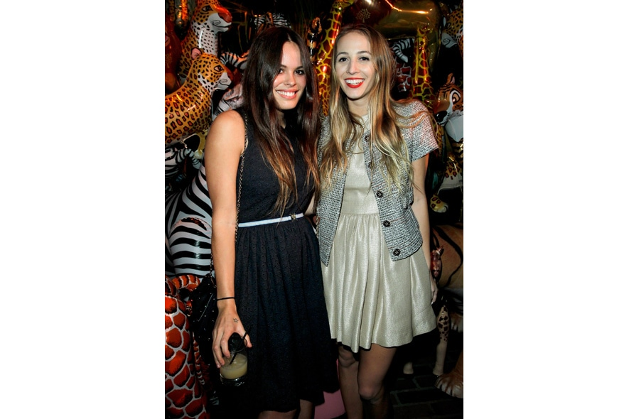 Atlanta De Cadenet and Harley Viera Newton