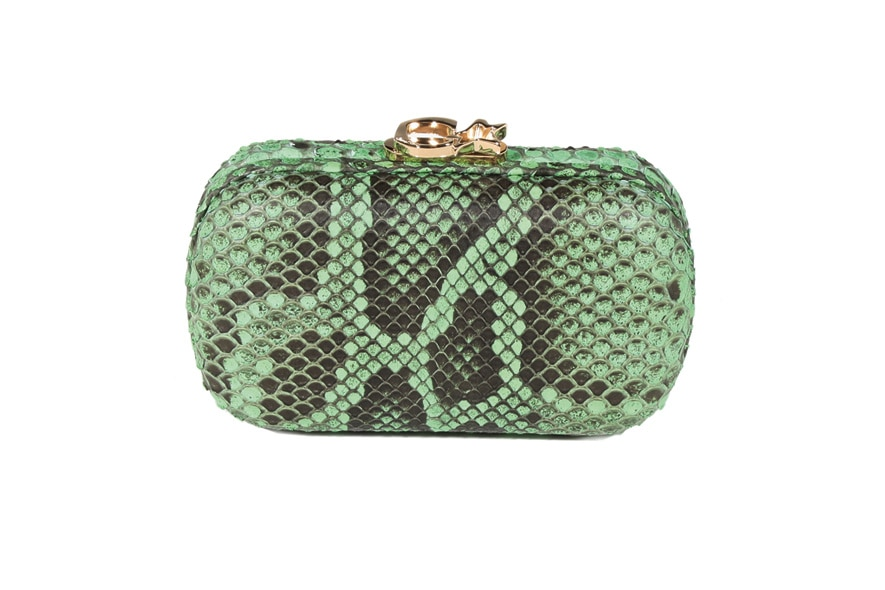 Corto Moltedo Green Python Minaudière
