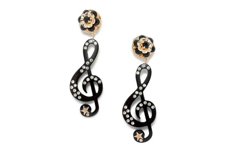 Dolce&Gabbana music note earrings