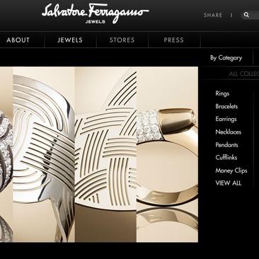 I gioielli di Ferragamo a portata di click
