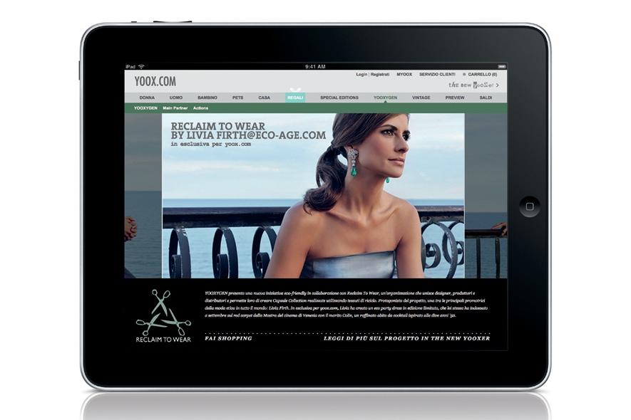 In esclusiva per yoox.com Reclaim to wear by Livia Firth @ Eco Age.com  iPad