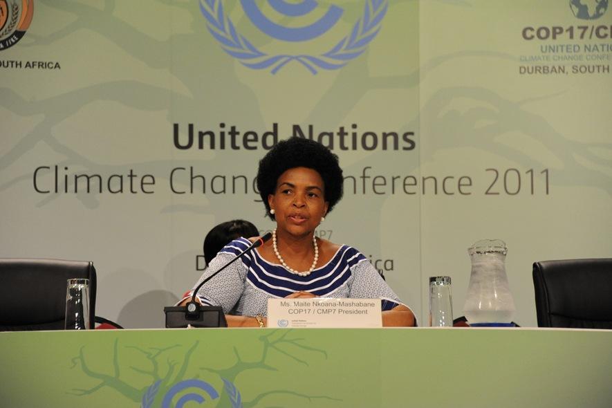 La Presidente sudafricana Maite Nkoana Mashabane