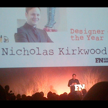 Nicholas Kirkwood Footwear News Designer of the Year