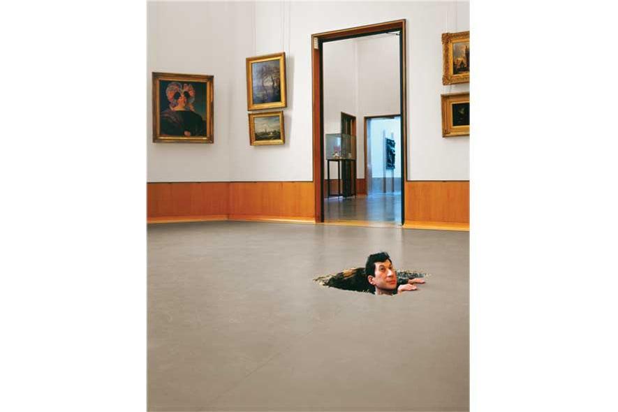 Untitled (floor) 2001 Maurizio Cattelan