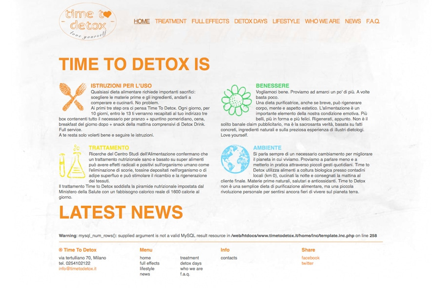 time to detox   home page sito
