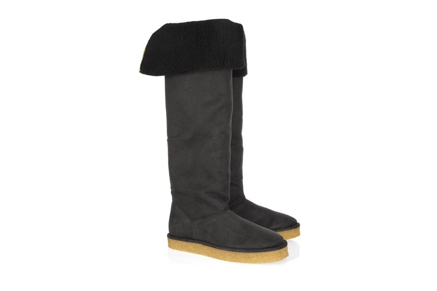 Flat faux shearling boots by Stella McCartney available at NET A PORTER
