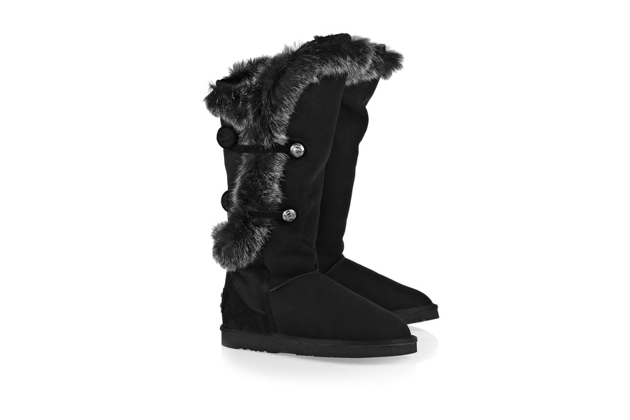 Nordic Angel rabbit and shearling boots by Australia Luxe Collective available at NET A PORTER