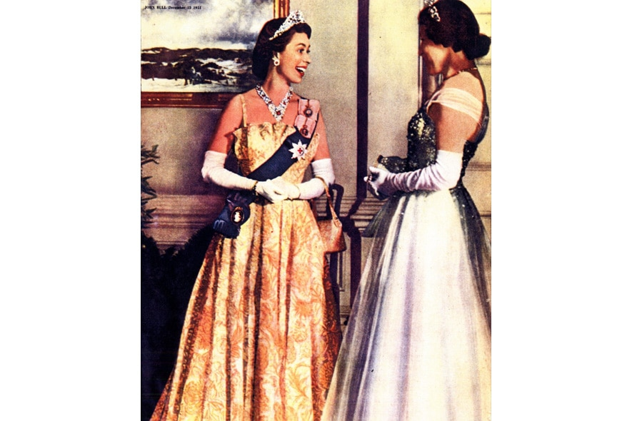 Princess Elizabeth with Lady Alexandra (Canada) 1951
