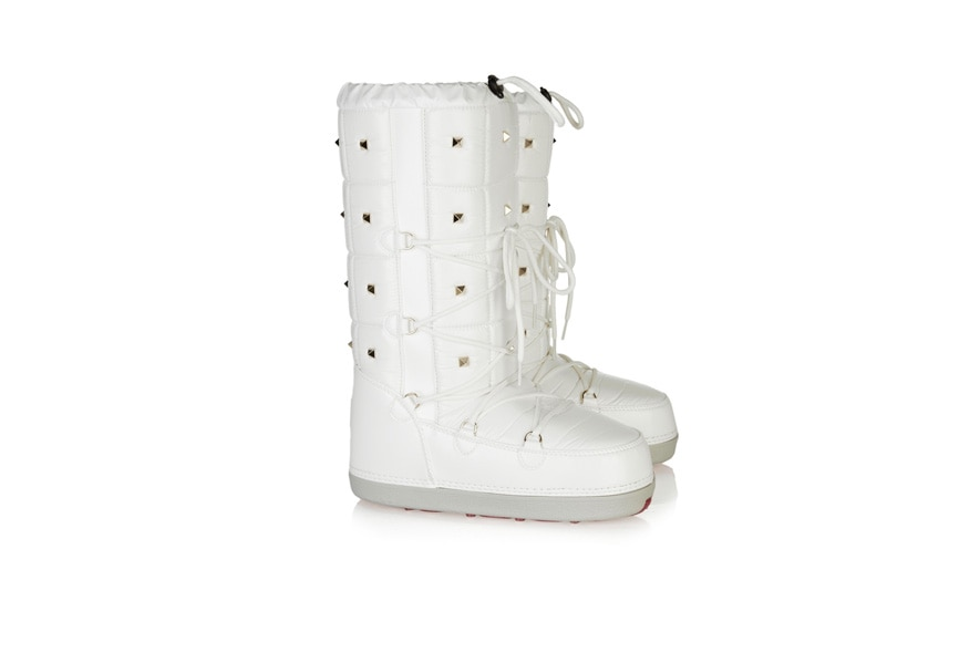 Studded patent snow boots by Valentino available at NET A PORTER