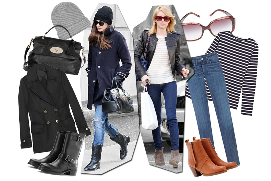 Navy Coat o Biker jacket? Copia il look di Anne ed Emma