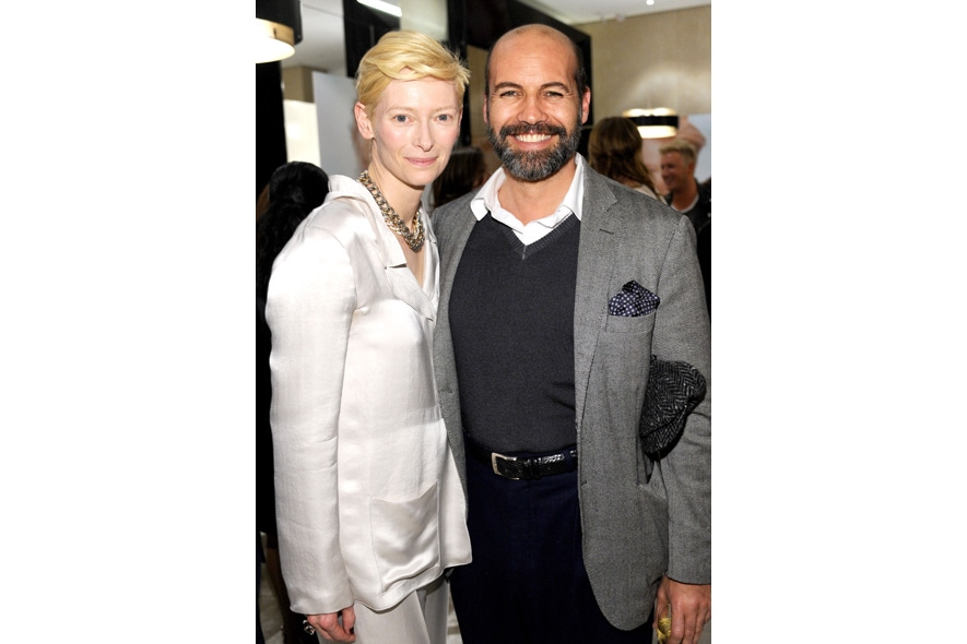 19 Opening Event of Pomellato Boutique in Rodeo Drive Host Tilda Swinton and Actor Billy Zane