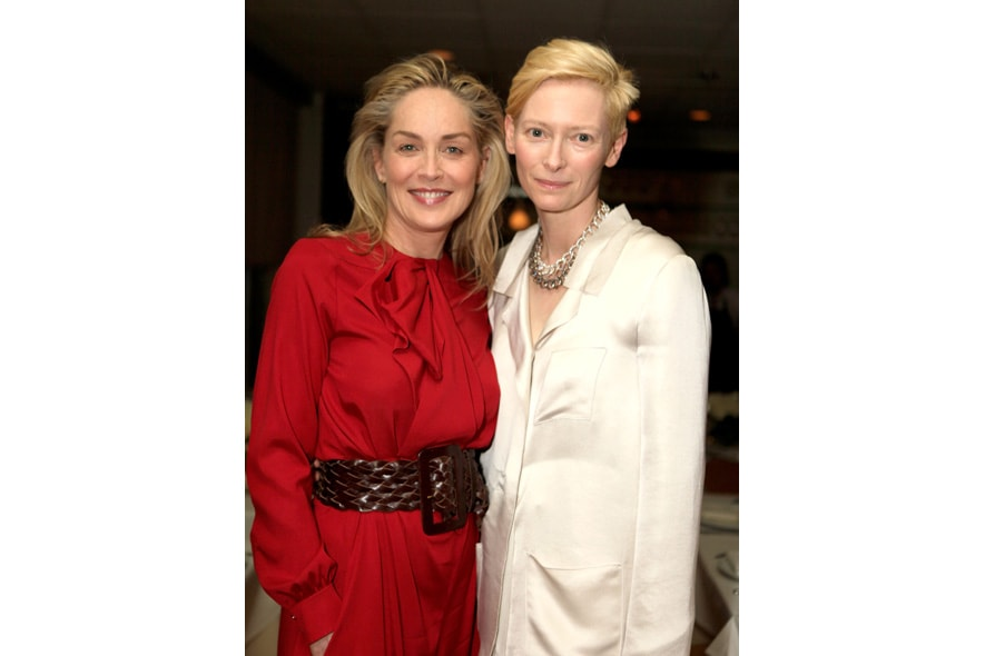 7 Opening Event of Pomellato Boutique in Rodeo Drive Host Tilda Swinton and Actress Sharon Stone