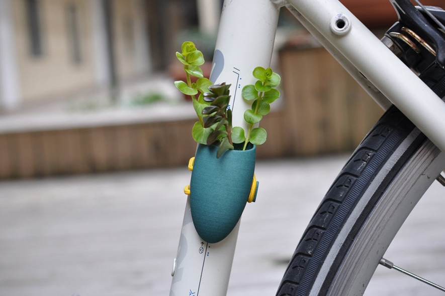 Bike Planter in Teal